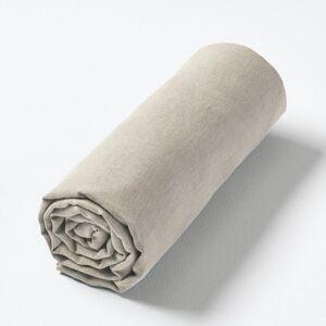 Am.pm Lençol-capa em cânhamo lavado, para colchões altos, Helm   Areia