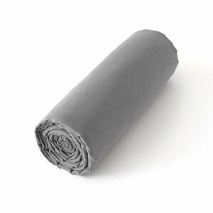 Am.pm Lençol-capa em linho lavado Elina, para colchão alto   cinza pedra