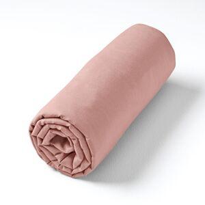 Am.pm Lençol-capa em voile de algodão lavado, para colchões altos, Gypse   Rosa-antigua