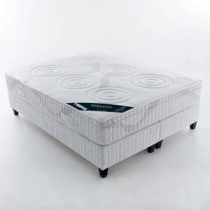- Premium Colchão de látex, conforto luxo firme, 5 zonas   Branco