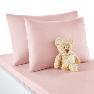 Fronha de almofada  para bebé, em algodão, Scénario   rosa-pétala
