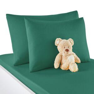 Fronha de almofada  para bebé, em algodão, Scénario   Verde-Esmeralda