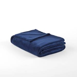 Cobertor em microfibra, Elfa   Azul-Escuro