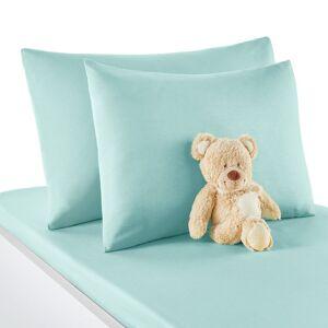 Fronha de almofada  para bebé, em algodão, Scénario   azul-argila