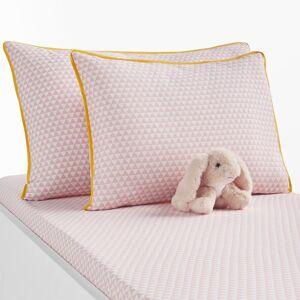 Fronha de almofada para bebé, em algodão, scandinave   rosa/branco