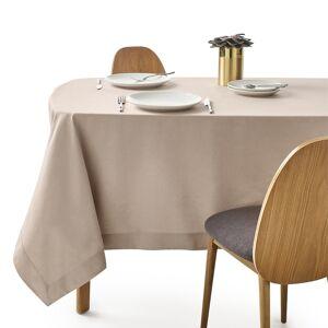 Toalha de mesa em meio-linho, linho-algodão, BORDER   bege