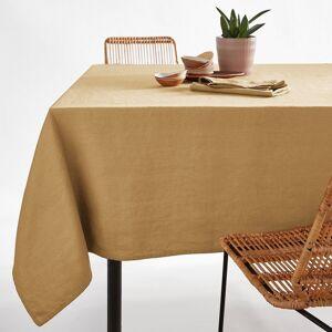 Toalha de mesa em linho lavado, Victorine   Ocre