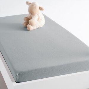 Lençol-capa em jersey para cama de bebé, Scenario   Cinza-Pérola