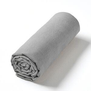 Am.pm Lençol-capa Helm, em cânhamo lavado   Cinzento-cisne