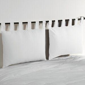 Lote de 2 capas para almofada de cabeceira, em algodão, Scenario   Branco