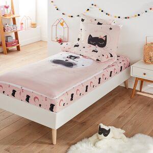 Pronto-a-dormir com edredon, CAT OPERA   estampado fundo rosa