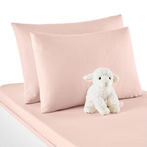 Fronha de almofada para bebé em algodão coton biológico, Scénario   rosa-pétala