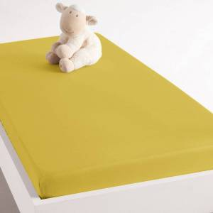 Lençol-capa para cama de bebé, em algodão, Scenario   Amarelo