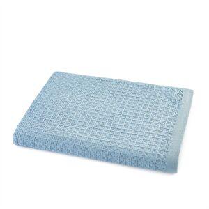 Am.pm Toalha de banho em algodão biológico aos favos, Wafflie   azul-argila