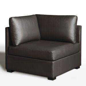 Sofá de canto, conforto excelência, pele, Robin   castanho-chocolate