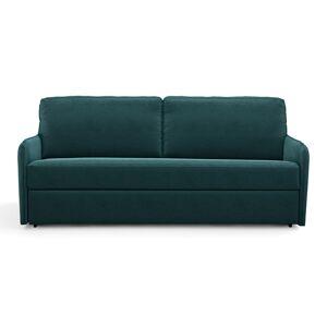 Sofá-cama, em veludo, espuma, Nano   esmeralda