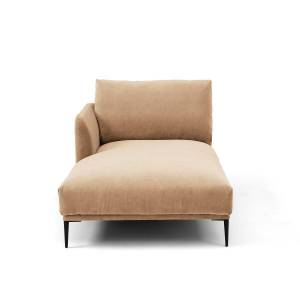 Am.pm Chaise longue em veludo stonewashed, Oscar design E.Gal   Bege
