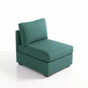 Sofá sem apoio de braços com capa amovível, em algodão, Robin   Eucalípto