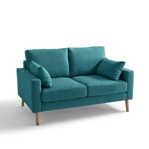 Sofá em algodão e linho, Stockholm, conforto Excelência   Azul-Petróleo