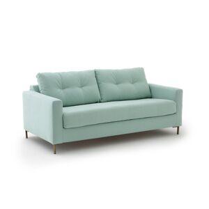 Sofá-cama em algodão/linho, GOLDY   verde-argila
