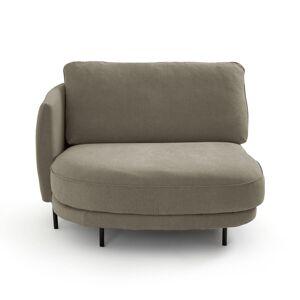 Am.pm Chaise longue em linho stonewashed, Arcus design E.Gallina   Castanho-esverdeado