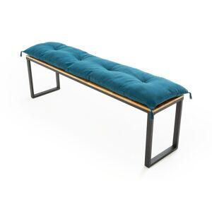Colchão para banco, comp. 160 cm, Panama   Azul-prússia