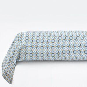 Fronha de travesseiro em percal, Teyben   Estampado Azul