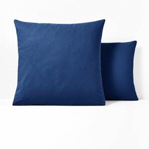 Fronha lisa em poli-algodão, Scenario   azul ultramar