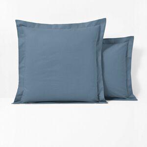 Fronha de almofada em polialgodão, com folho, Scenario   Azul-acinzentado