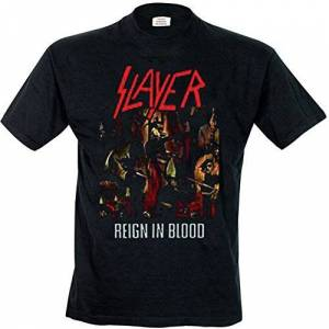 Absolute Cult Slayer Hombre Reign In Blood Camiseta Negro X-Large