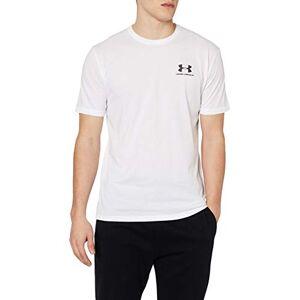 Under Armour Sportstyle Left Chest Camiseta, Hombre, Blanco (White/Black 100), XXL