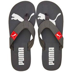 Puma Cozy Flip, Zapatos de Playa y Piscina Unisex Adulto, Gris (Castlerock-Hot Coral 07), 37 EU
