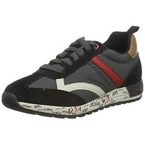 Geox J ALBEN Boy A, Zapatillas para Niños, Negro (Black/Dk Red C0260), 38 EU