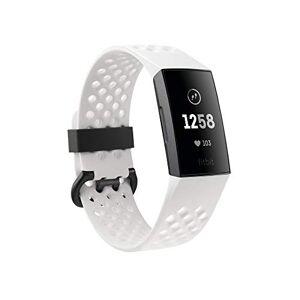 Fitbit Charge 3 Pulsera Avanzada de Salud y Actividad fsica, Unisex-Adult, Grafito/Blanco, Talla Unico