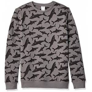 Amazon Essentials Crew Neck Sweatshirt fashion-sweatshirts, Gris (Grey Shark), 4T