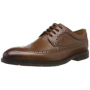 Clarks Ronnie Limit, Zapatos de Cordones Brogue para Hombre, Marrón (British Tan Lea British Tan Lea), 41.5 EU