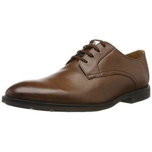 Clarks Ronnie Walk, Zapatos de Cordones Derby para Hombre, Marrón (British Tan Lea British Tan Lea), 44.5 EU