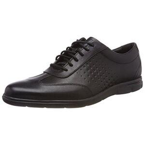 Clarks Vennor Vibe, Zapatos de Cordones Derby para Hombre, Negro (Black Leather-), 40 EU