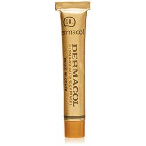 Dermacol DC Base Makeup Cover Total   Maquillaje Corrector Waterproof SPF 30   Cubre Tatuajes, Cicatrices, Acn, Imperfecciones, Manchas en la Piel de la Cara y Cuerpo   Liquido - Mate Natural - 30g