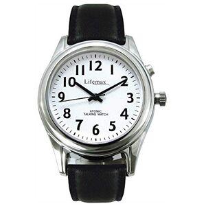 NRS Healthcare M48878 - Reloj parlante controlado por radio con correa de piel, para hombre, en inglés