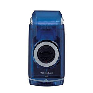 Braun PocketGo M60b MobileShave - Afeitadora eléctrica para hombre portátil, máquina de afeitar barba, transparente azul