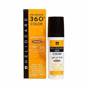 Heliocare 360º Color Gel Oil-Free SPF 50+, Bronze, 50 Mililitros