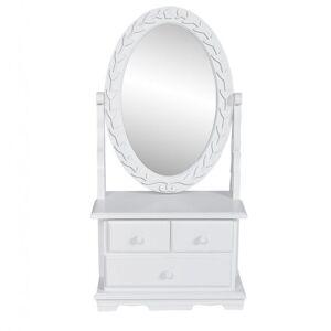 Casa Practica Masă de machiaj cu oglindă oscilantă ovală, MDF