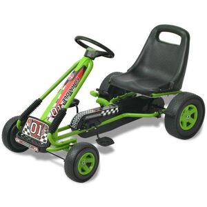Casa Practica vidaX Kart cu pedale cu șezut reglabil verde