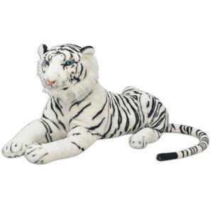 Casa Practica Tigru de jucărie din pluș, XXL, alb