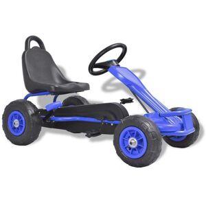 Casa Practica Mașinuță kart cu pedale și roți pneumatice, albastru