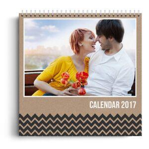 PhotoGo Calendar personalizat - Cardboard - Calendar de birou cu suport triunghiular - Panoramic triunghiular (18x10 cm)