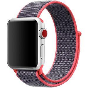 Apple Curea pentru Apple Watch 38 mm iUni Woven Strap, Nylon Sport, Purple-Electric Pink