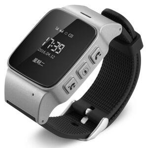 Ceas GPS Copii si Seniori iUni U100, Telefon incorporat, Pedometru, Notificari, Wi-fi, Silver