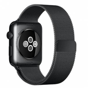 Apple Curea pentru Apple Watch 38mm Otel Inoxidabil iUni Space Black Milanese Loop
